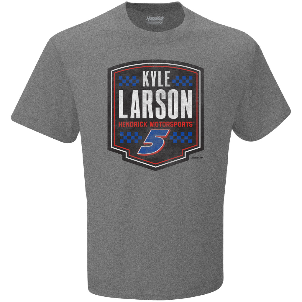 Kyle Larson 2021 Shield #5 NASCAR T-Shirt Gray