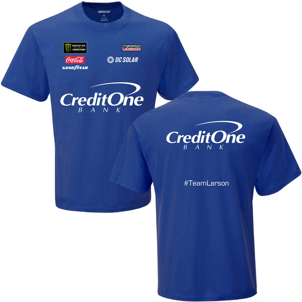 Kyle Larson Credit One #42 NASCAR Uniform T-Shirt Blue