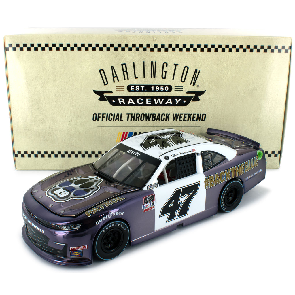 Kyle Weatherman #47 Color Chrome 2020 Darlington Throwback #BackTheBlue #47 NASCAR Diecast Car 1:24