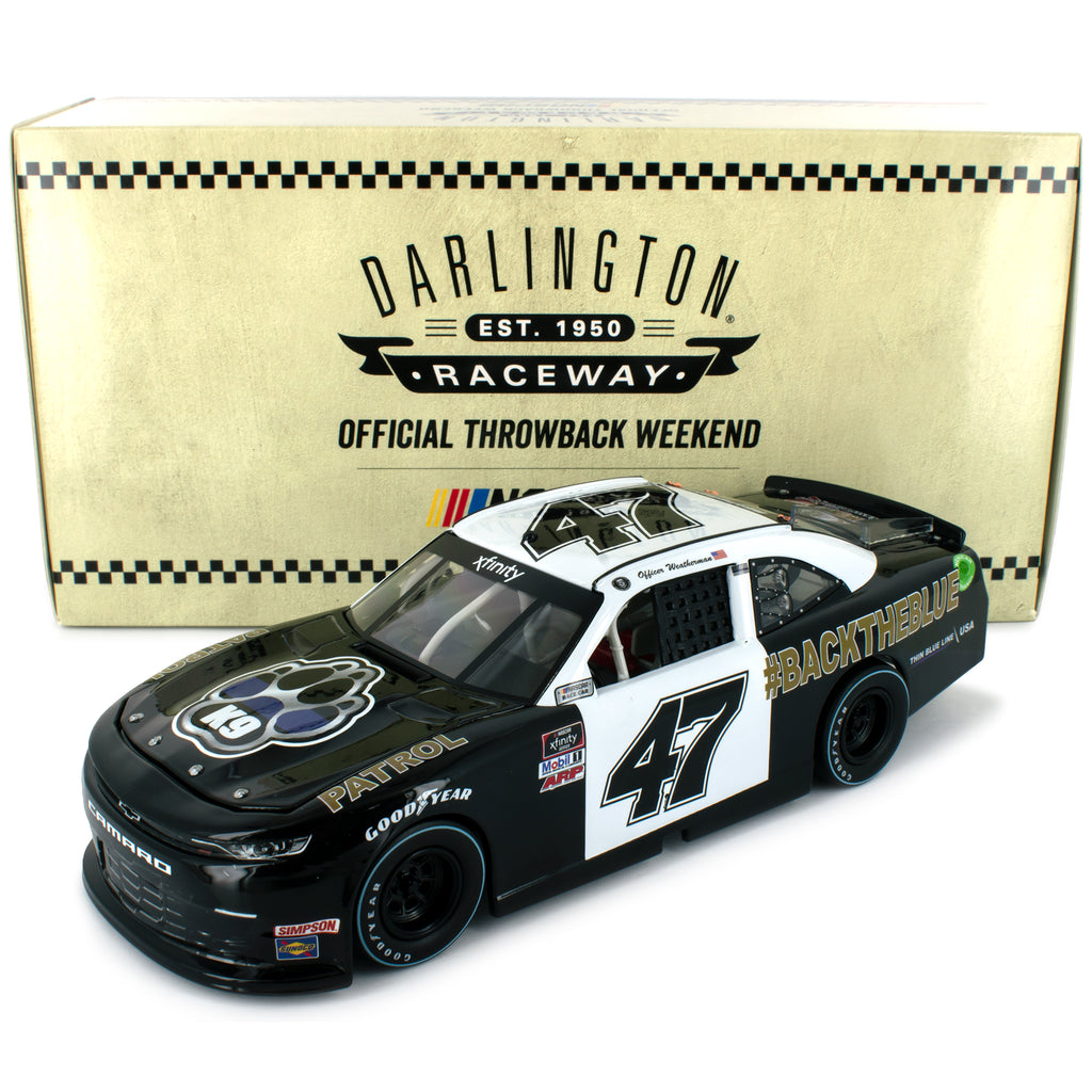 Kyle Weatherman #47 Standard 2020 Darlington Throwback #BackTheBlue #47 NASCAR Diecast Car 1:24