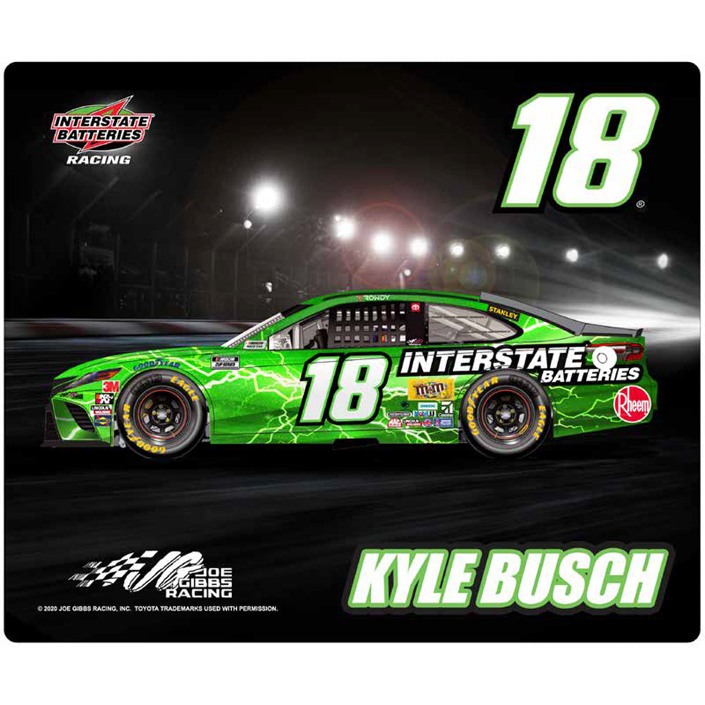 Kyle Busch 2020 Sublimated Interstate Batteries #18 NASCAR Computer Mousepad