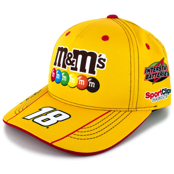 Kyle Busch 2021 M&M's Uniform #18 NASCAR Hat Yellow
