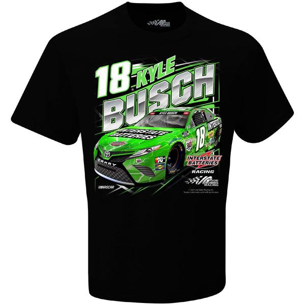 Kyle Busch 2021 Interstate Batteries Competition #18 NASCAR T-Shirt Black