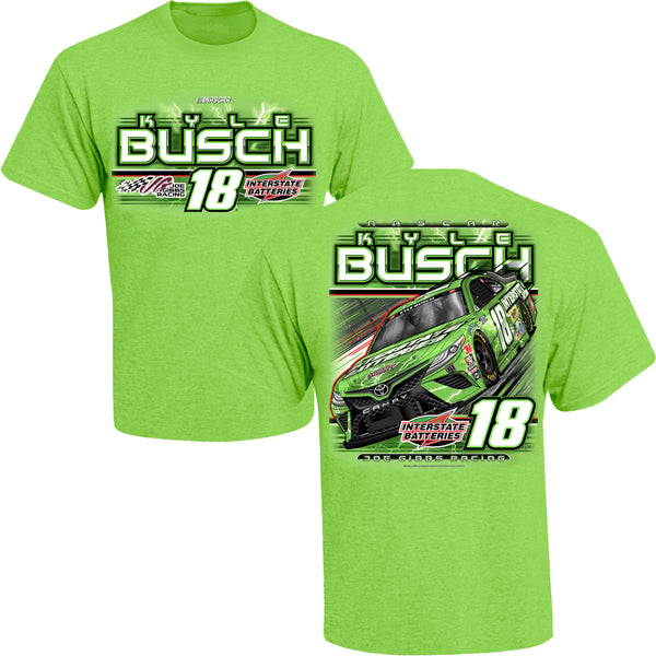 Kyle Busch 2021 Interstate Batteries Car #18 NASCAR T-Shirt Green