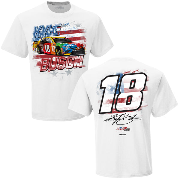 Kyle Busch 2021 M&M's Old Glory #18 NASCAR T-Shirt White