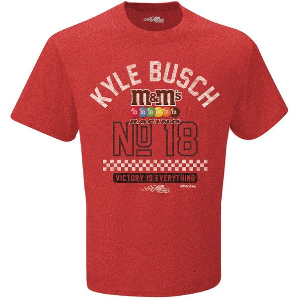 Kyle Busch Vintage #18 Victory NASCAR T-Shirt Red