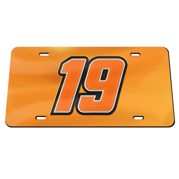 Martin Truex Jr #19 Deluxe Crystal NASCAR License Plate