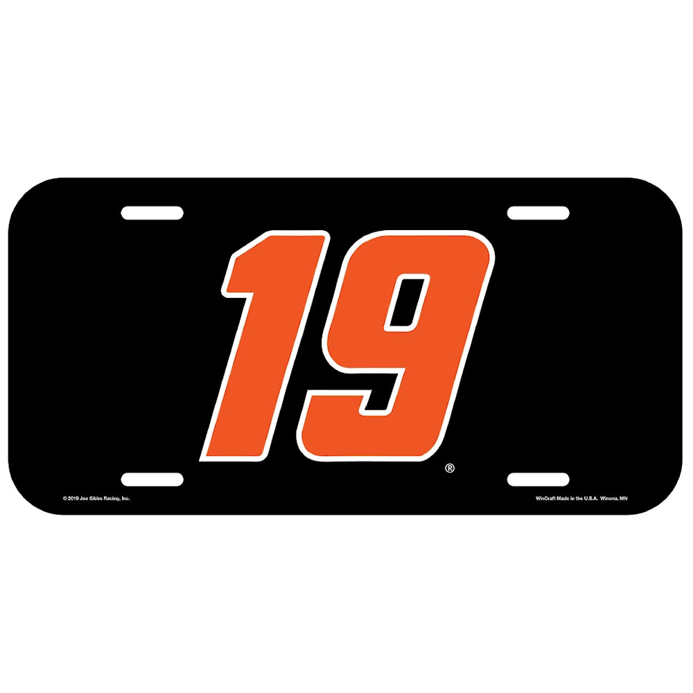 Martin Truex Jr Plastic #19 Car Number NASCAR License Plate