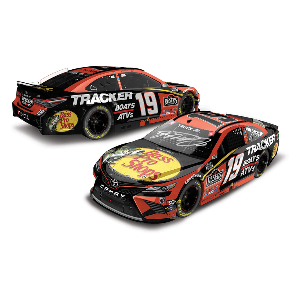 Martin Truex Jr Autographed 2020 SiriusXM Martinsville Win Raced Version #19 NASCAR Diecast Car 1:24