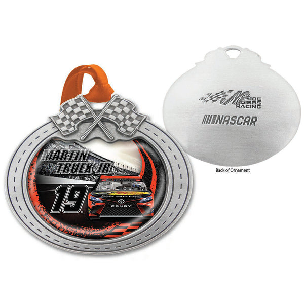 Martin Truex Jr 2020 Car Pewter Metal Bass Pro Shops #19 NASCAR Christmas Ornament