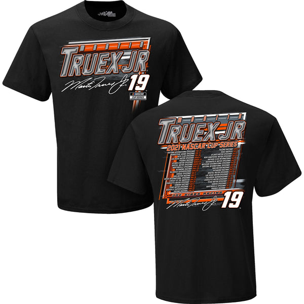 Martin Truex Jr 2021 NASCAR Cup Series Schedule #19 T-Shirt Black