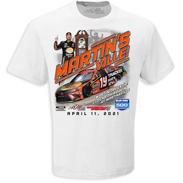 Martin Truex Jr 2021 Martinsville Race Win T-Shirt White Preorder - Ships Next Week