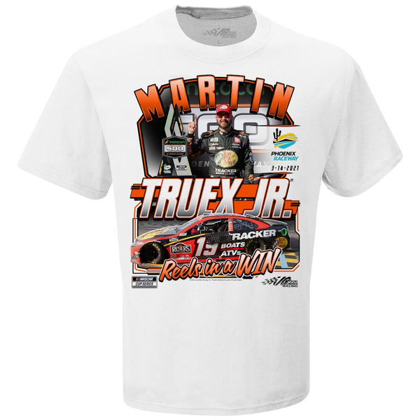 Martin Truex Jr 2021 Phoenix Race Win T-Shirt White