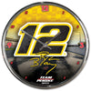 Ryan Blaney 2020 Chrome Plated #12 NASCAR Wall Clock