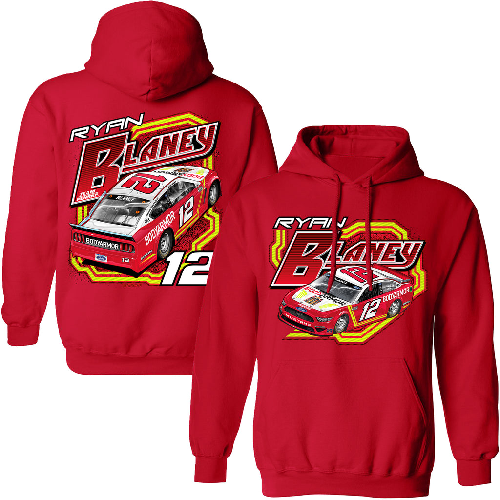 Ryan Blaney 2021 BodyArmor Track Car #12 NASCAR Hoodie Red