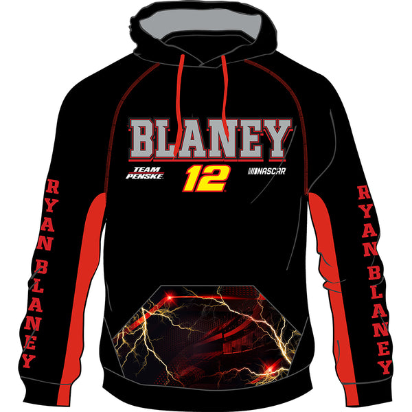 Ryan Blaney 2020 Sublimated #12 NASCAR Performance Hoodie Black