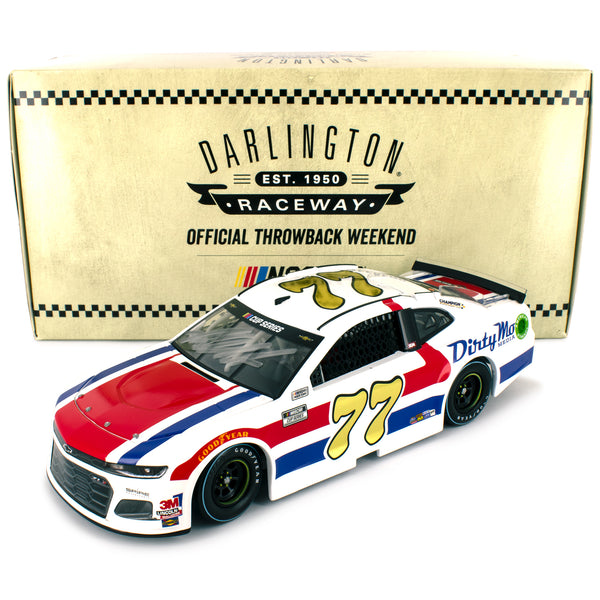 Ross Chastain Autographed 2020 Darlington 1976 Dale Sr Throwback Dirty Mo Media #77 NASCAR Diecast Car 1:24