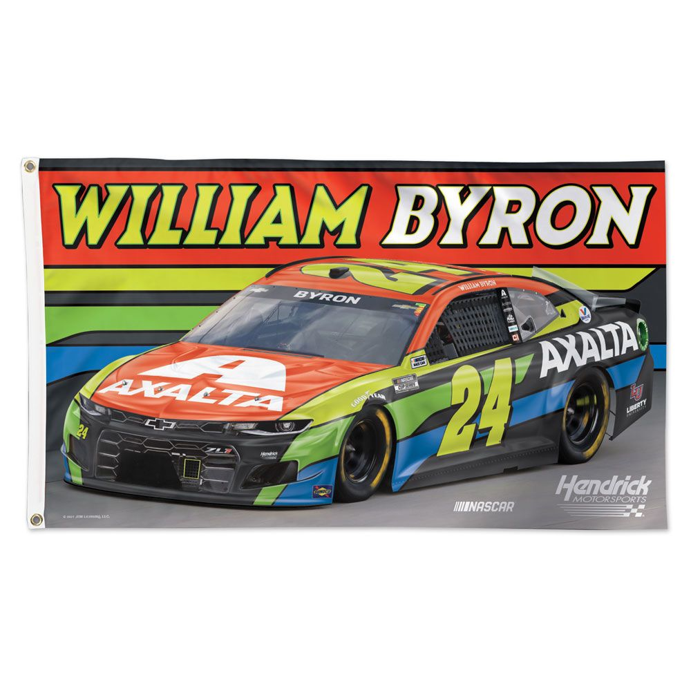William Byron 2021 Axalta #24 NASCAR 3x5 Flag
