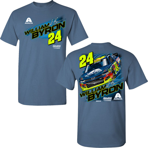 William Byron 2020 Axalta Car #24 NASCAR T-Shirt Blue