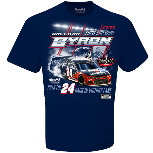 William Byron 2020 Daytona 1st Cup Series Race Win Liberty #24 NASCAR T-Shirt Blue
