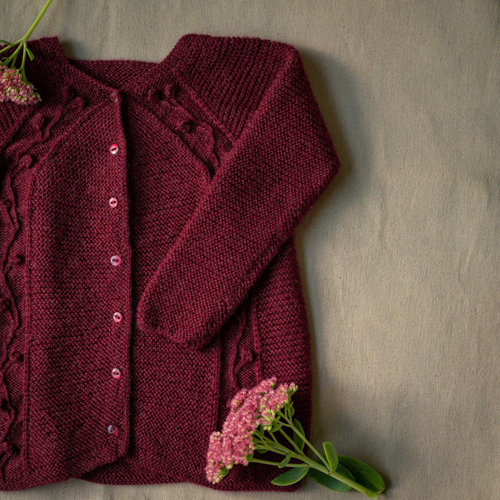 Uldklumpers Blomsterrillecardigan