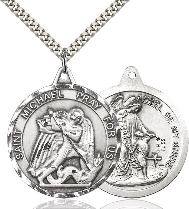 Round St. Michael/Guardian Angel Medal