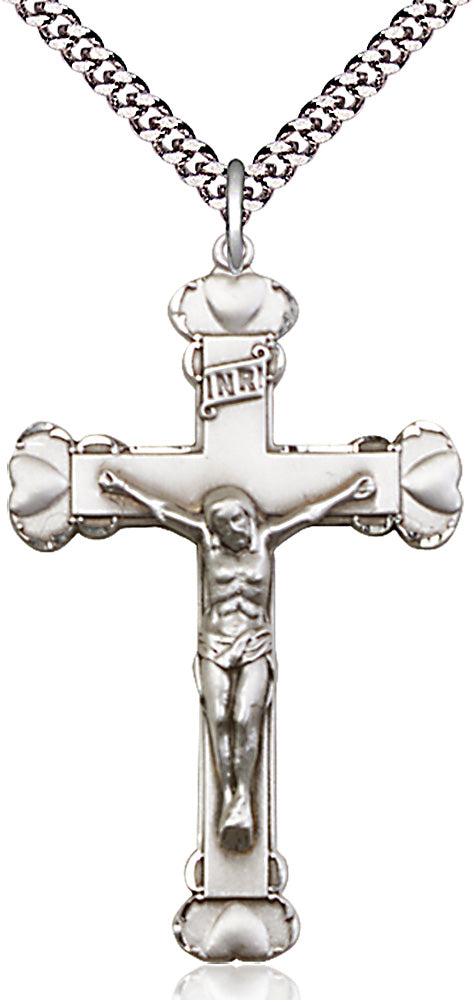 Sterling silver pendant with crucifix