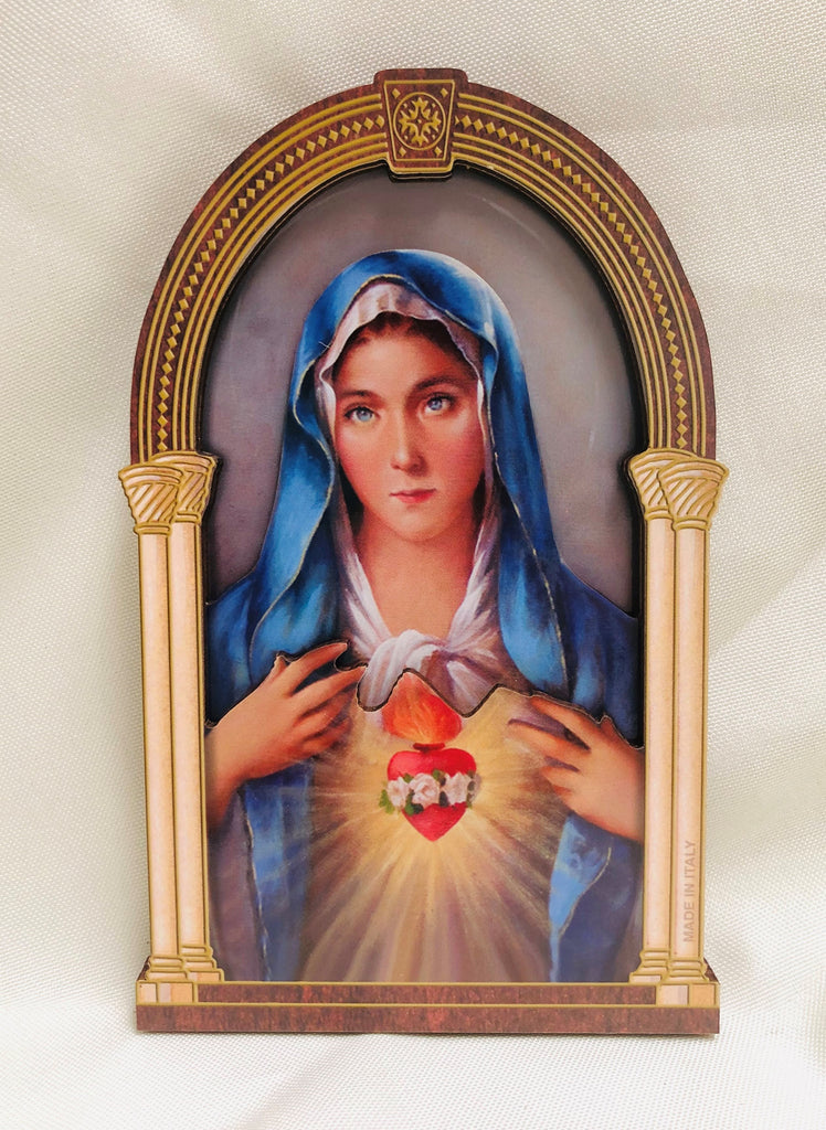 3D Immaculate Heart of Mary Plaque