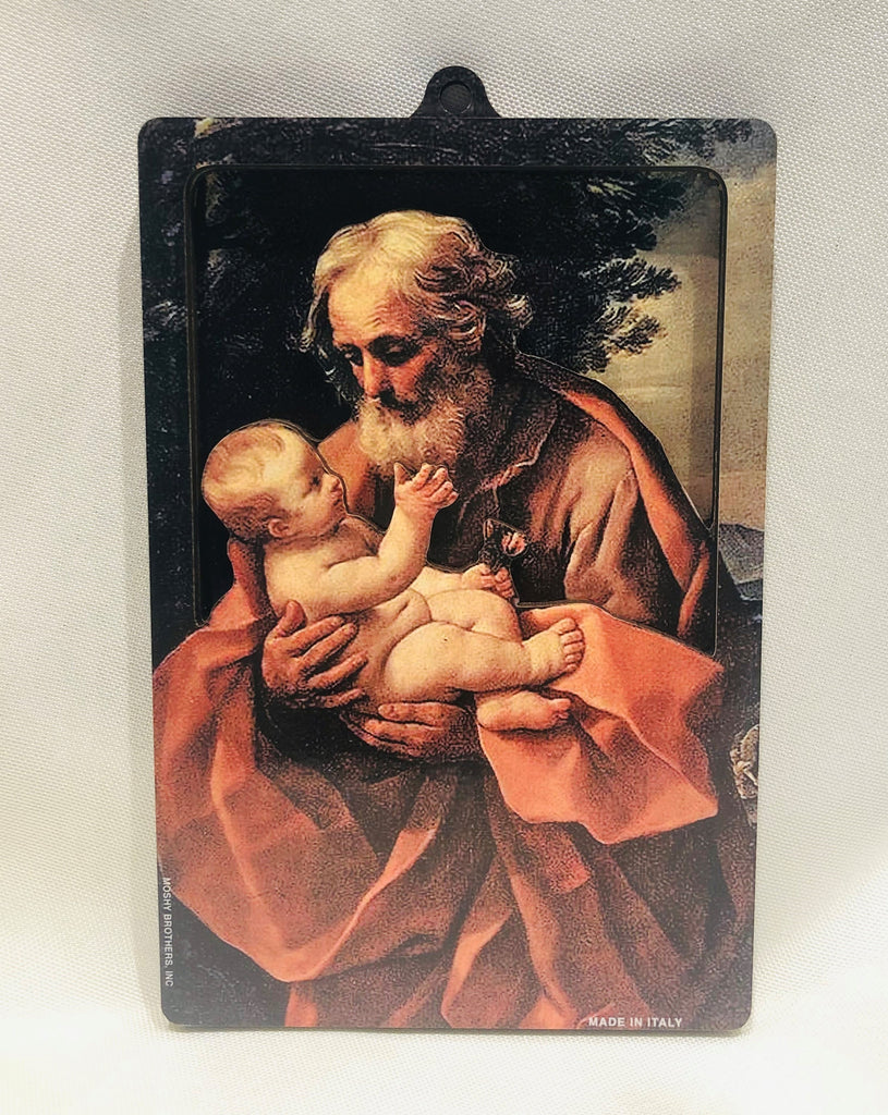 3D St. Joseph & Child Plaque