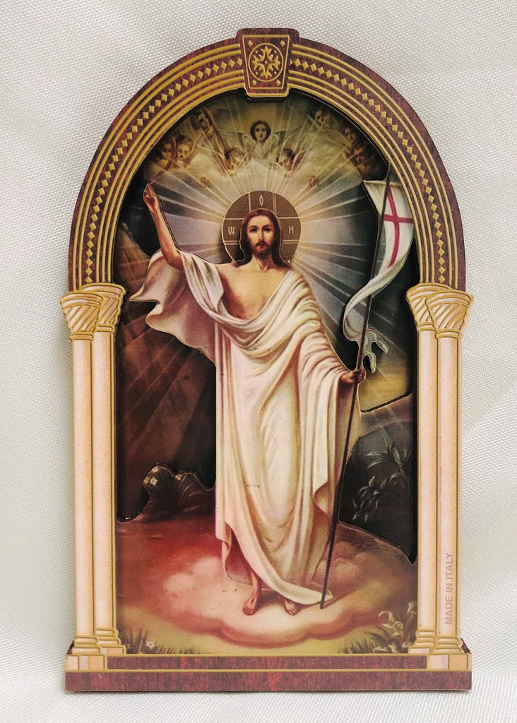 3D Risen Christ Plaque
