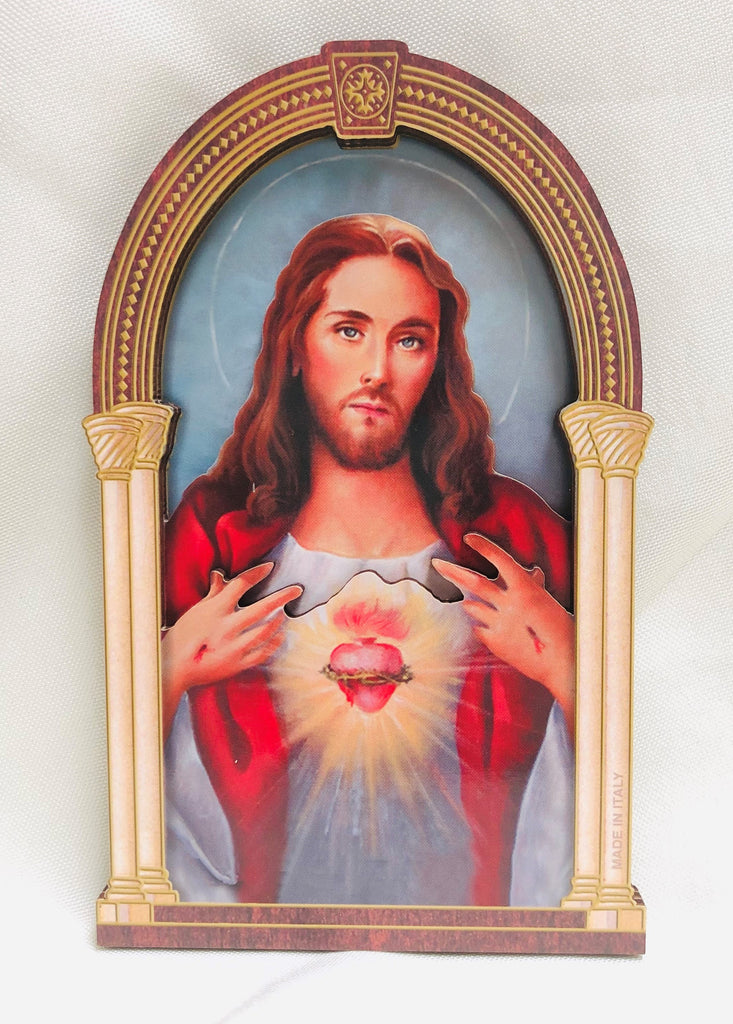 3D Sacred Heart of Jesus Plaque