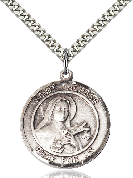 Round St. Therese Medal