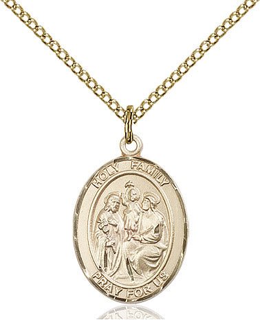 Gold Filled Holy Family Pendant