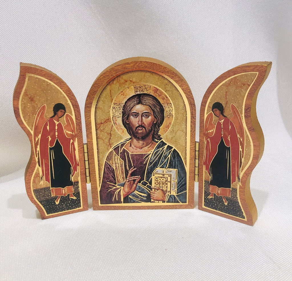 Christ All Knowing Triptych