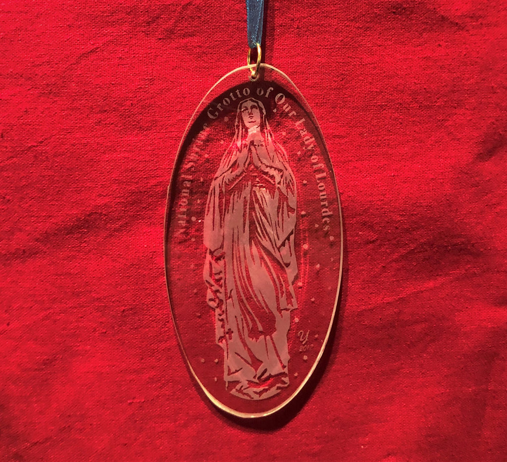 Blessed Virgin Mary Glass Ornament