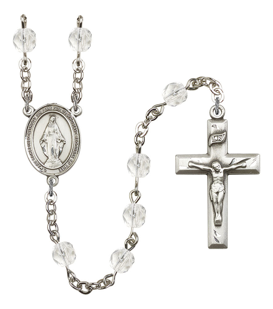 6mm Crystal Fire Polished Rosary