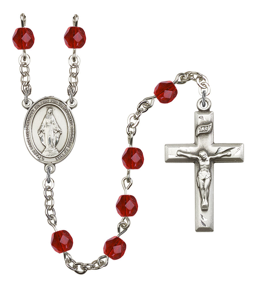6mm Ruby Fire Polished Rosary
