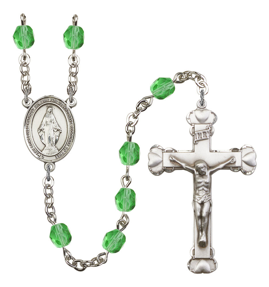6mm Peridot Fire Polished Rosary