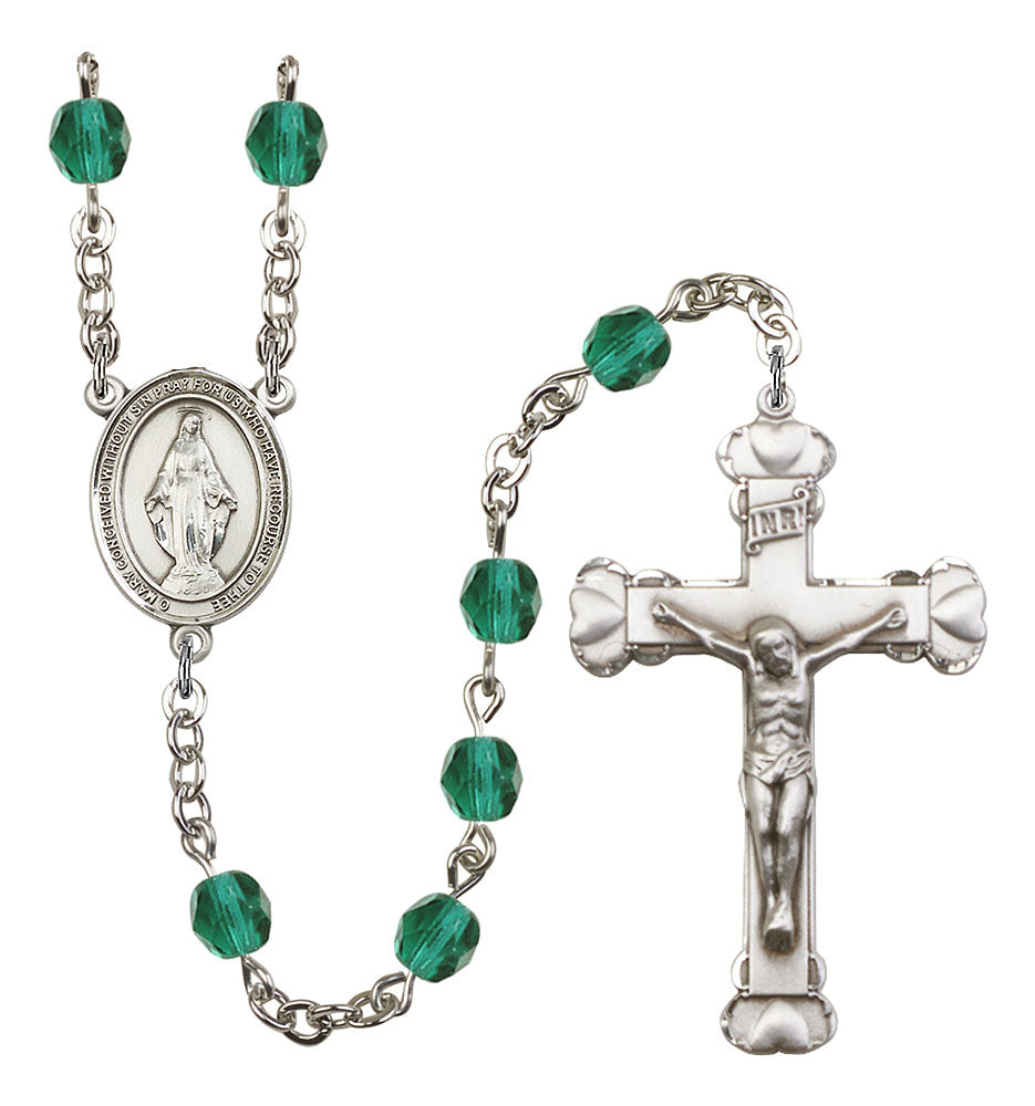 6mm Zircon Fire Polished Rosary