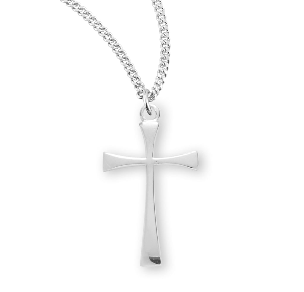 Sterling Silver Tapered End Cross