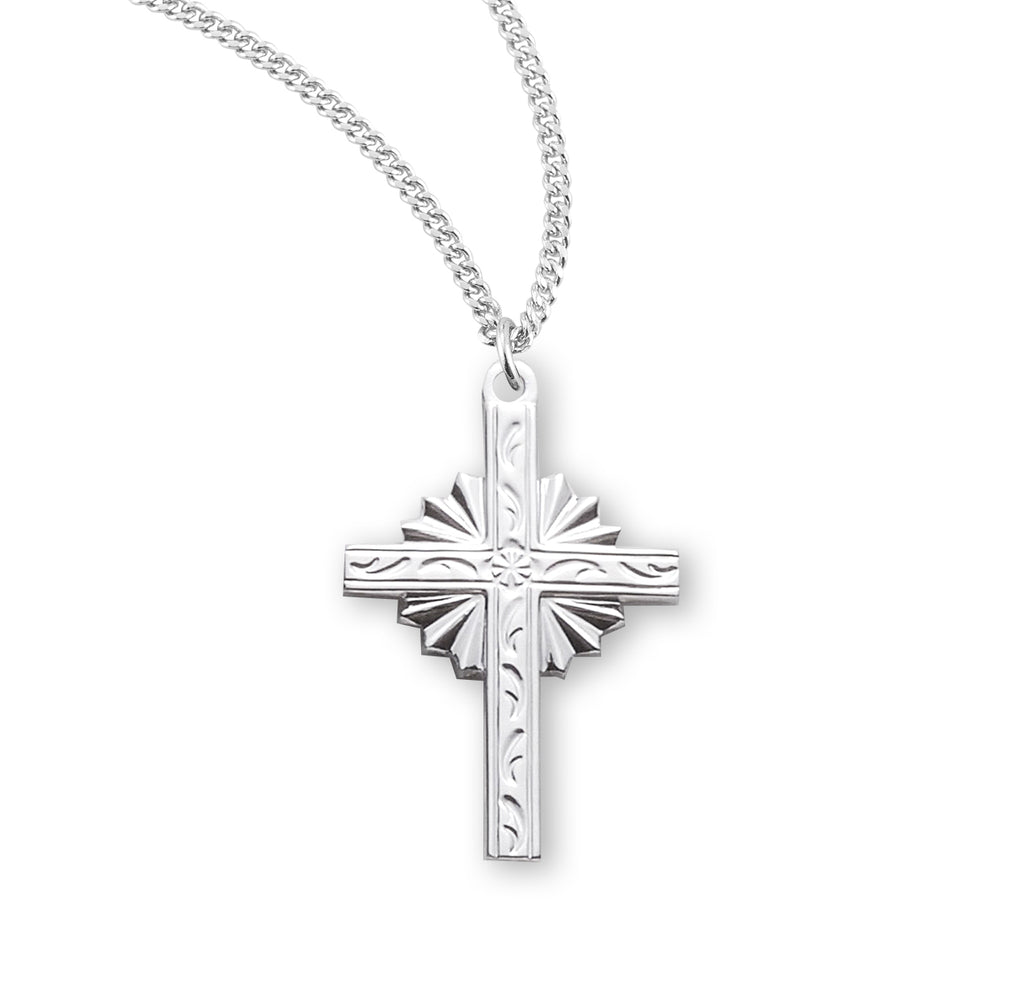 Engraved Vine Design Cross