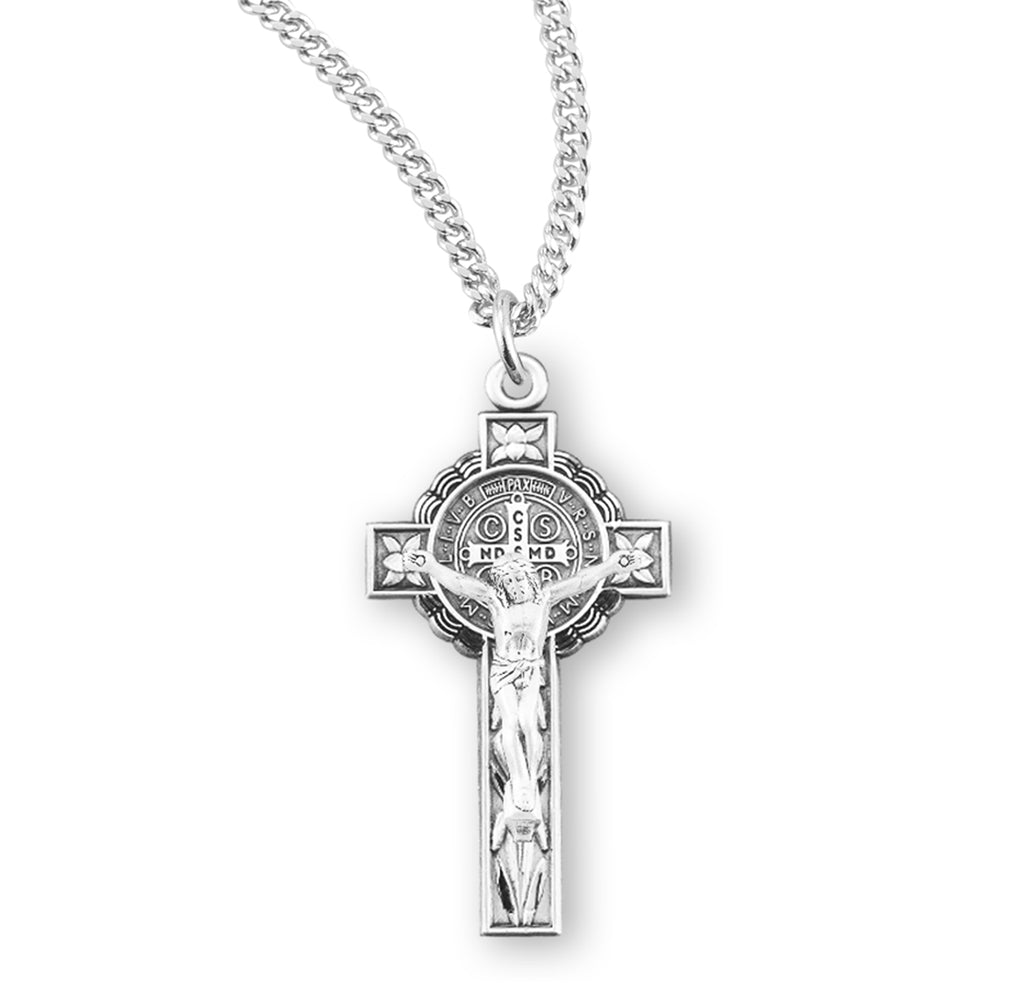 Saint Benedict Jubilee Sterling Silver Medal/Crucifix