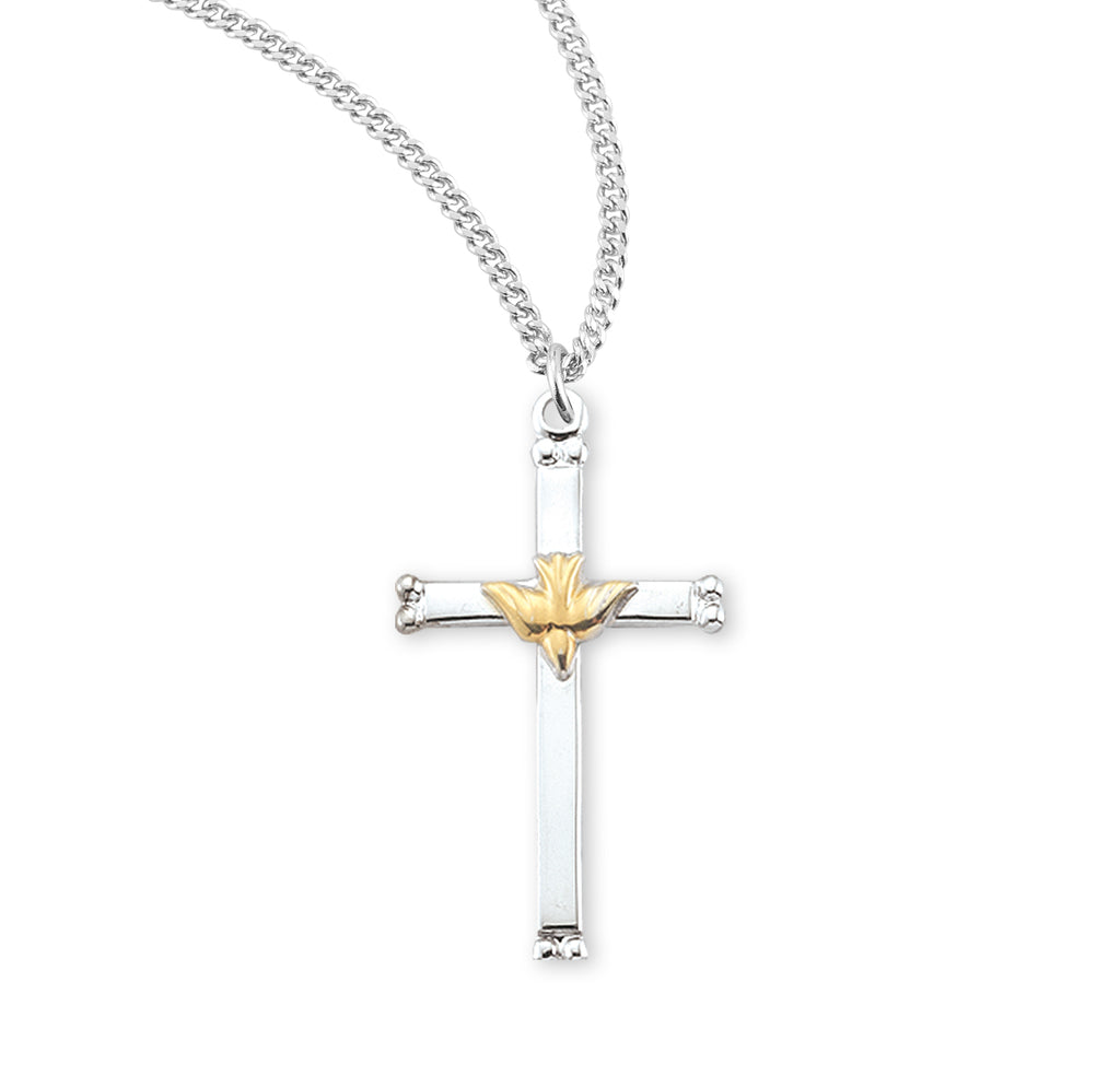 Holy Spirit Two-Tone Crucifix