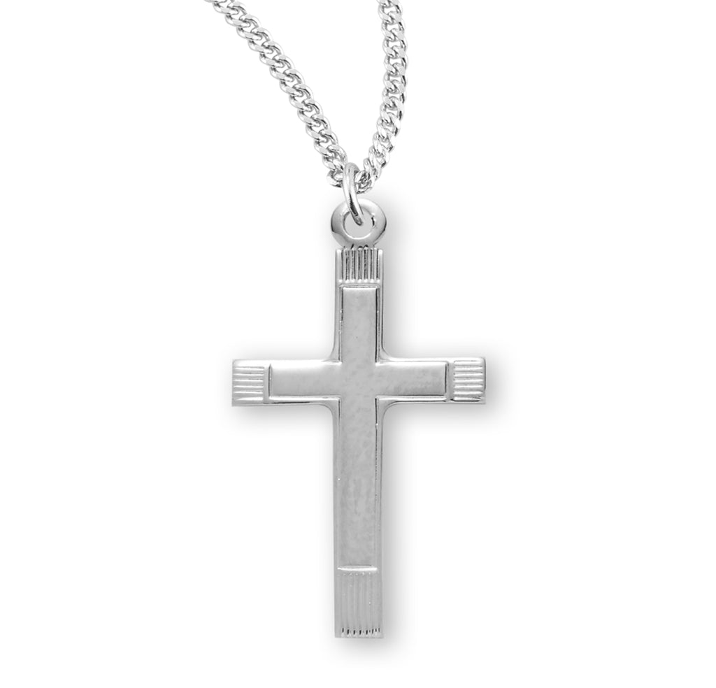Fancy Sterling Silver Cross