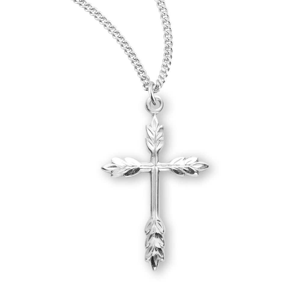 Sterling Silver Wheat Cross