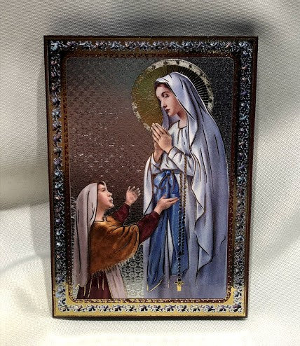 Our Lady of Lourdes Plaque