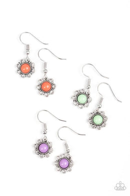 Paparazzi Starlet Shimmer Color Bead Flower Earring - Bling It On Online