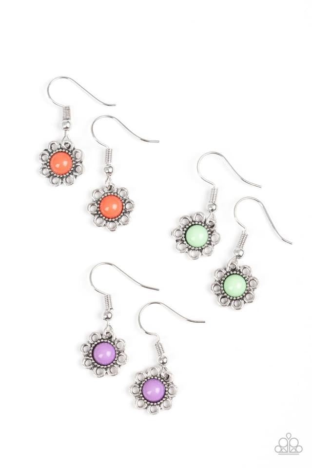 Paparazzi Starlet Shimmer Color Bead Flower Earring