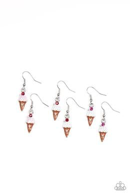 Paparazzi Starlet Shimmer Ice Cream Earring - Bling It On Online
