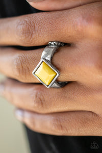 Paparazzi Stylishly Fair and Square - Yellow - Bling It On Online